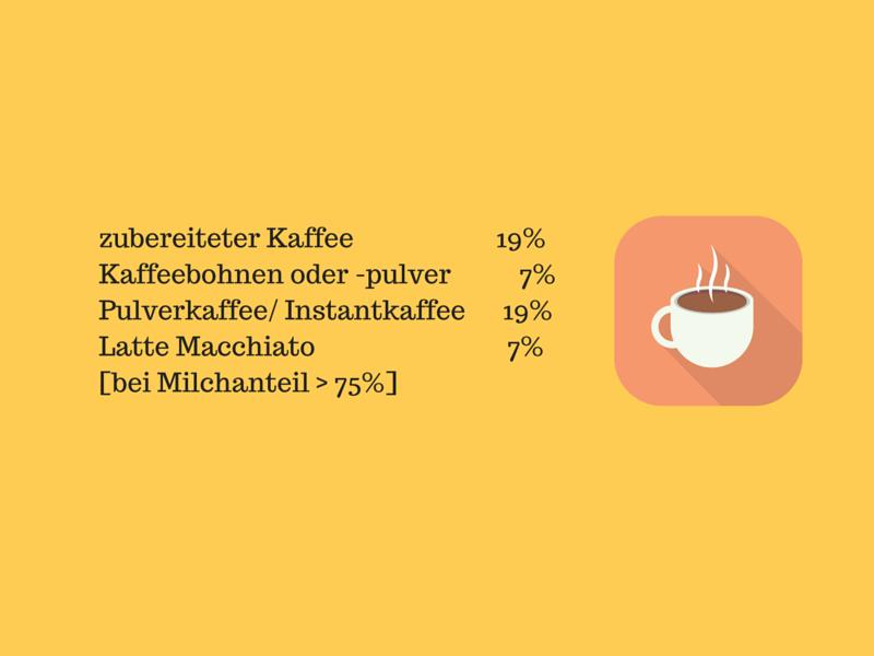 Umsatzsteuer Kaffee