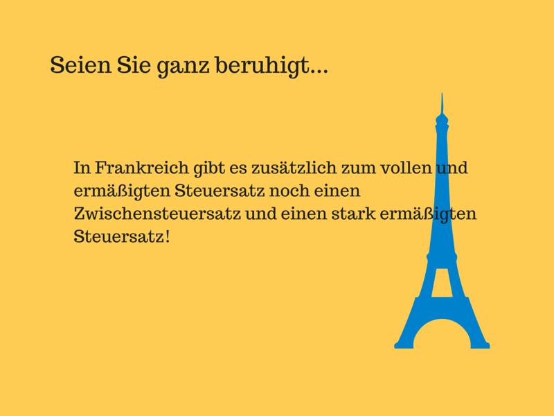 Umsatzsteuer Frankreich