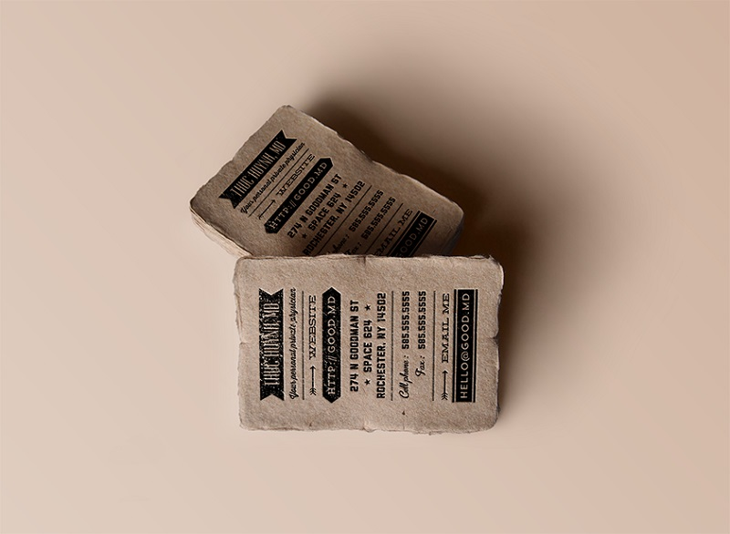 Visitenkarten Material_Design von hyakume