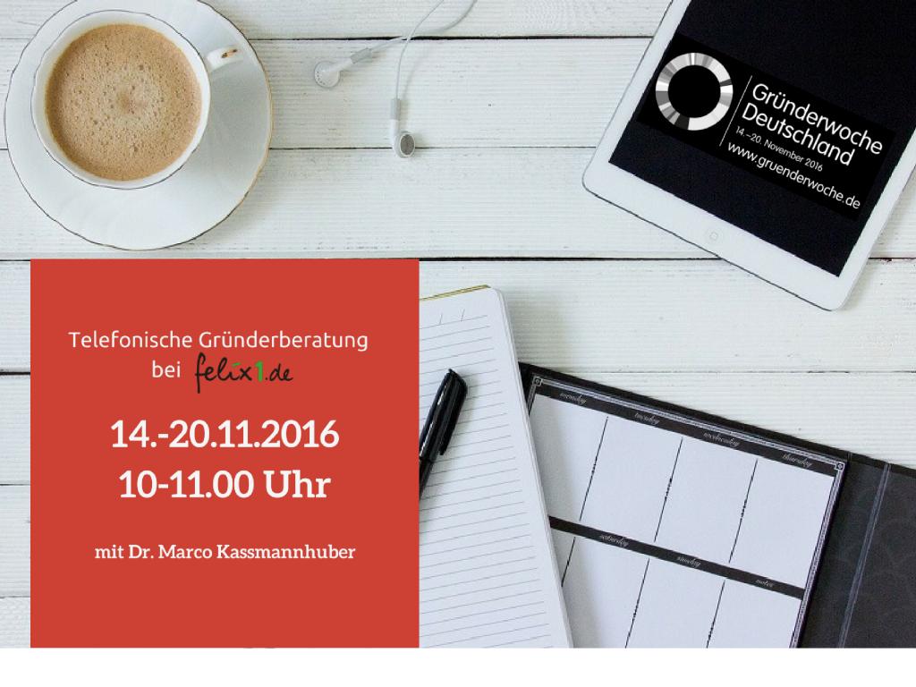 Gründerwoche 2016 – Mit Rat und Tat zur Existenzgründung