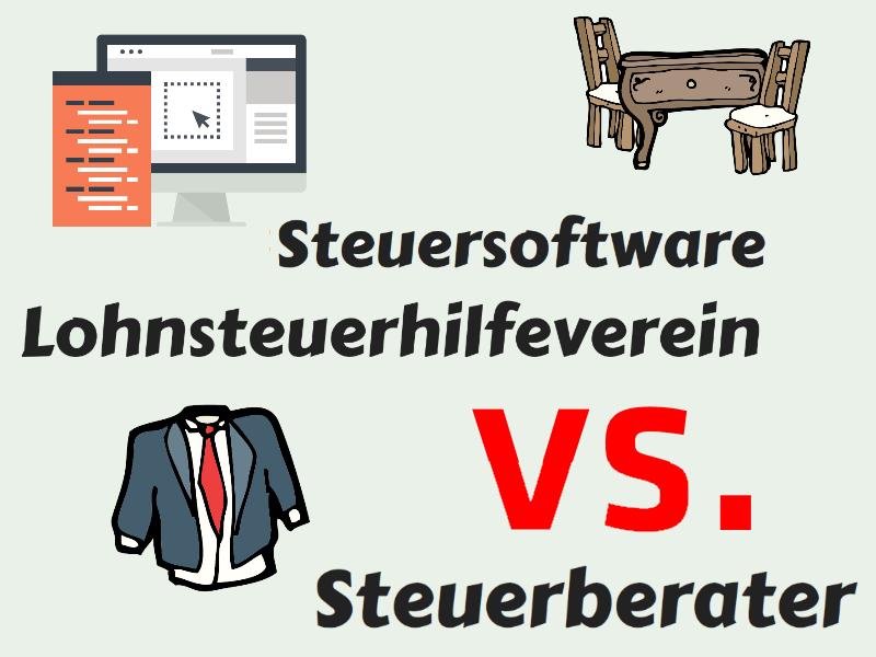 Steuersoftware vs. Lohnsteuerhilfeverein vs. Steuerberater