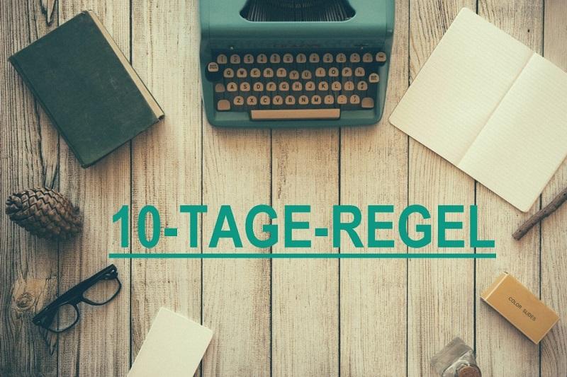 Achtung: 10-Tage-Regel zum Jahreswechsel beachten!