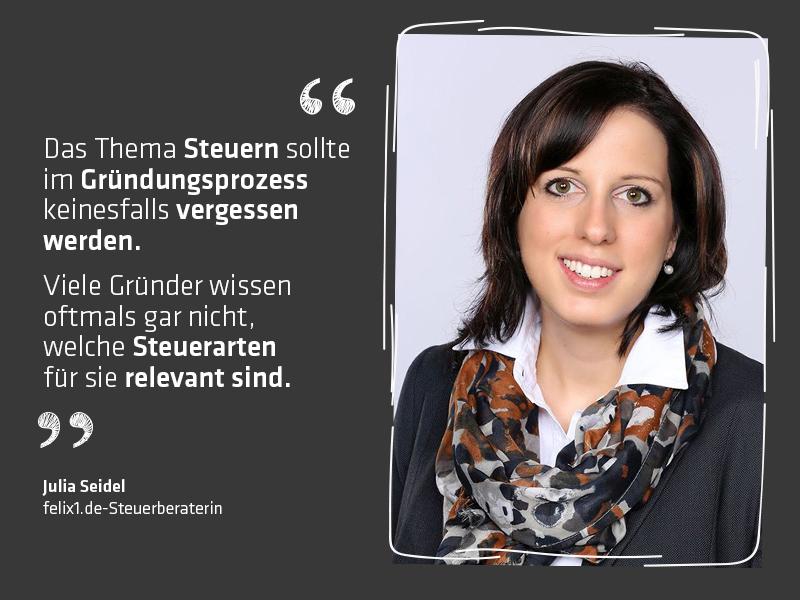 4 Fragen an felix1.de-Steuerberaterin Julia Seidel