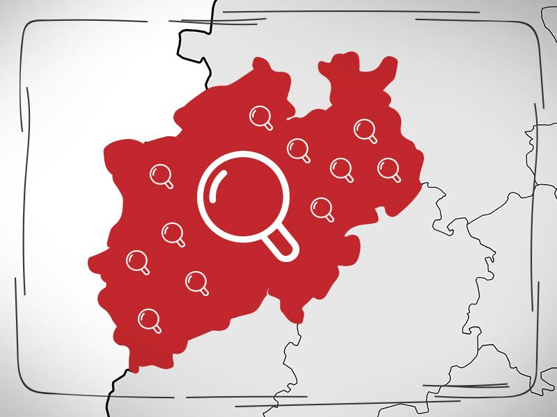 In dem auf Bundesland NRW gab es hohe Mehreinnahmen