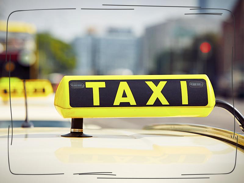Taxi und Schichtzettel