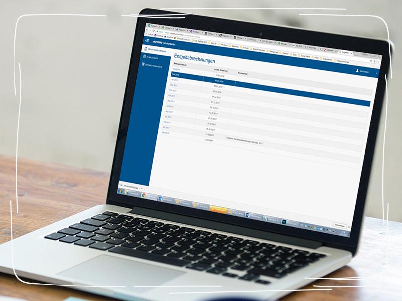eMitarbeiter-Portal auf Laptop