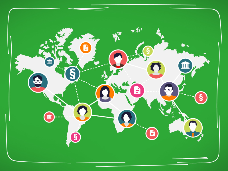 Austausch Weltkarte