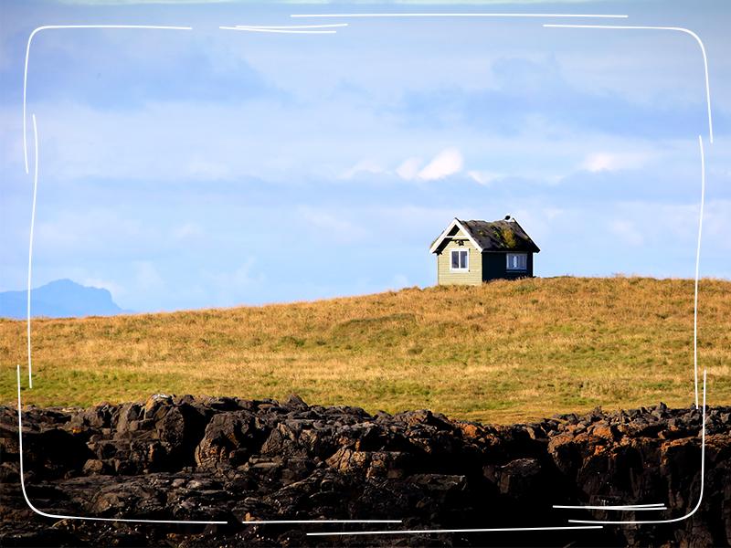 Einsames Haus auf dem Feld _ Mini One Stop Shop